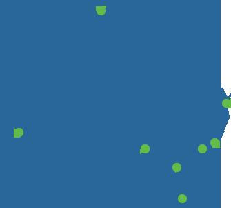 Australia Map with navigation dot for Backsafe