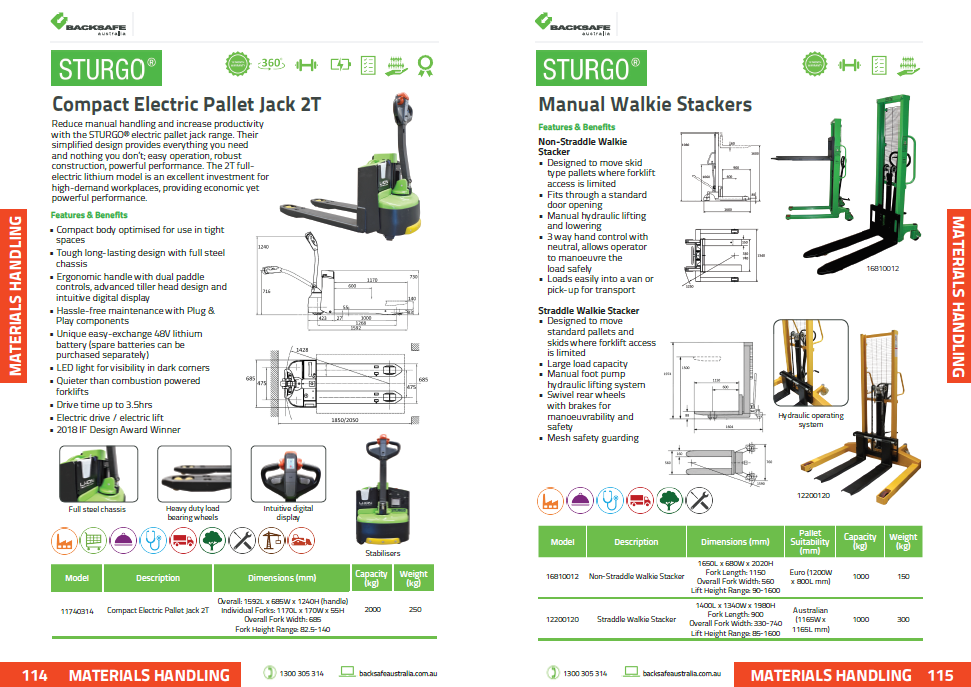 Backsafe Australia Product Guide Preview page 114-115