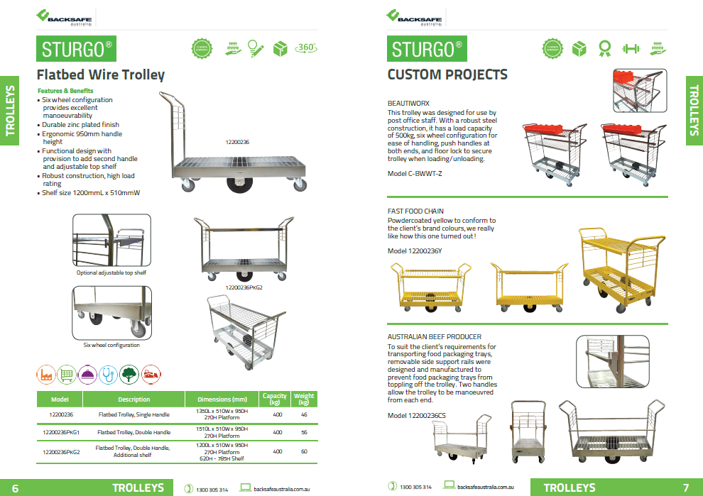 Backsafe Australia Product Guide Preview page 6-7